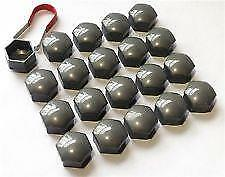 21mm GLOSS GREY Wheel Nut Covers with removal tool M17//10