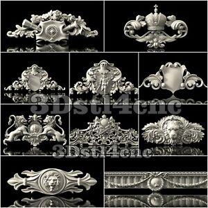 10-3D-STL-Models-Corona-Lion-Decor-for-CNC-Router-Carving-Machine-Artcam-aspire