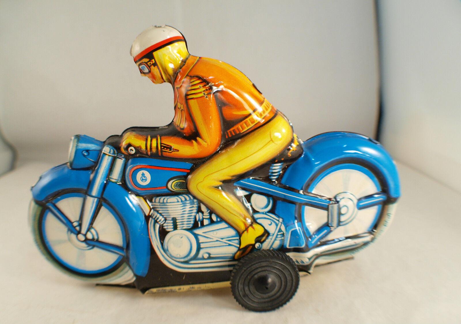 Pn Oeste Alemania Moto Chapa Litografiado Antiguo Fricción 16,5 cm Tintoy