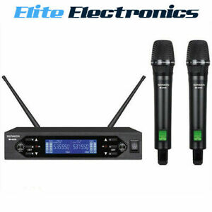 SONKEN WM4000D UHF DUAL CHANNEL PROFESSIONAL KARAOKE WIRELESS MICROPHONE KIT
