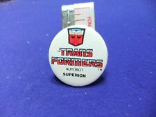vtg tin badge transformers childrens toys autobot superion robots in disguise