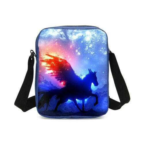 Flying Unicorn Combo Students Backpack Lunchbox  Crossbody Bag Pen Case Kids Lot