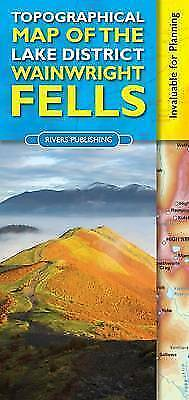 Topographical Map of the Lake District Wainwright Fells, Paperback by Knowles...