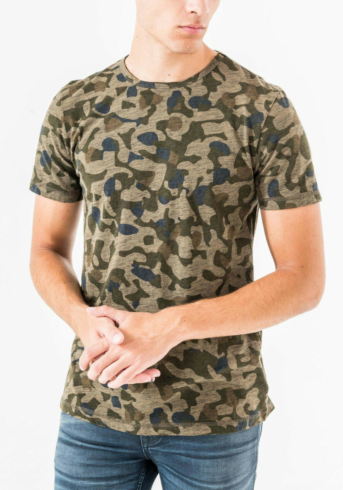 Antony Morato Previeh Hw2018 T-Shirt Camouflage Pattern Fine Cotton New SIZE M