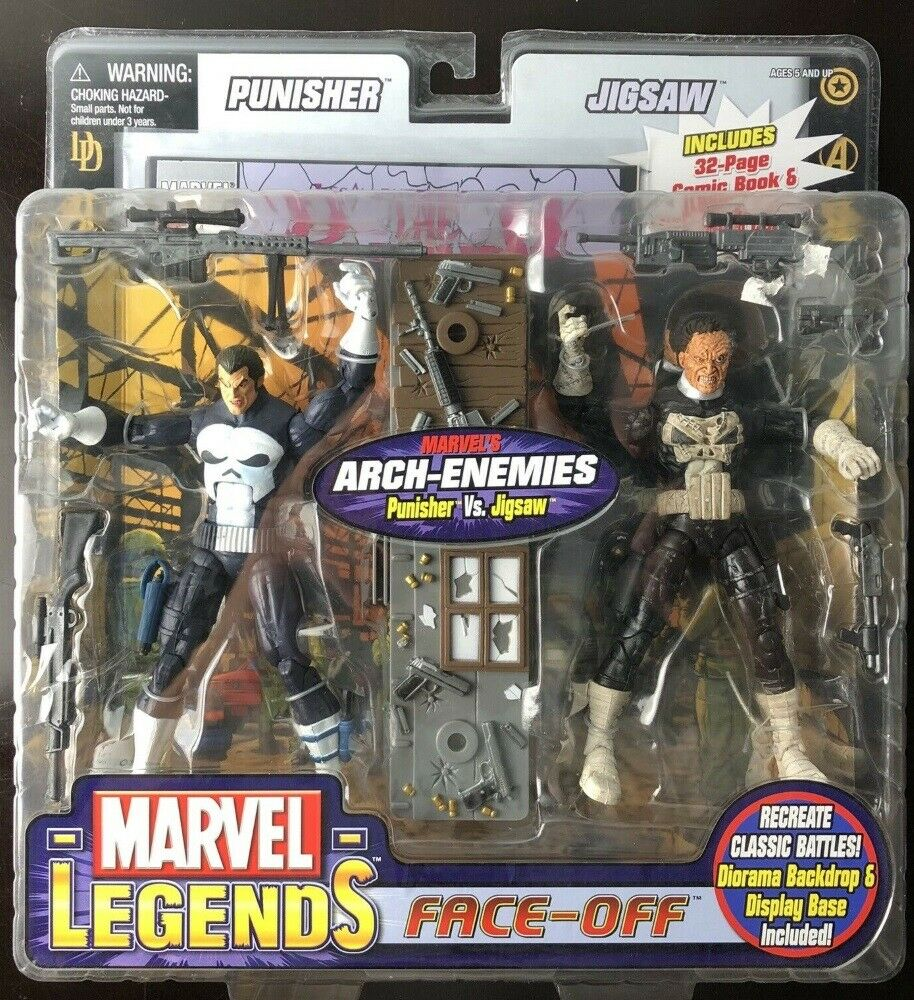 Marvel Legends Face  Off The Punisher Vs Jigsaw Variant Arch-Enemies giocattoloBiz MISP  vendita online risparmia il 70%
