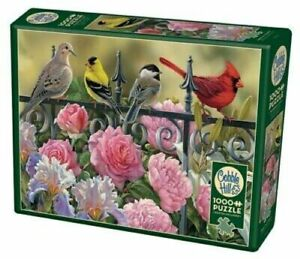 JackPine Puzzles 1000 pieces Jigsaw Puzzle - Birds on a Fence CBL80114
