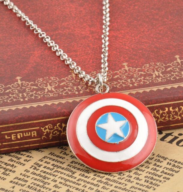 "Fashion Marvel Comics""Captain America""Shield Fashion Pendant Man's Necklace"