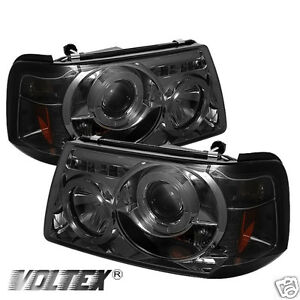 2001 2008 ford ranger halo led projector headlights lightbar light image is loading 2001 2008 ford ranger halo led projector headlights mozeypictures Choice Image