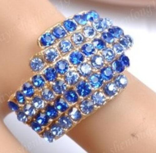 New 1pcs Fashion Charms Punk Rock Crystal Réglable Ring Free Ship