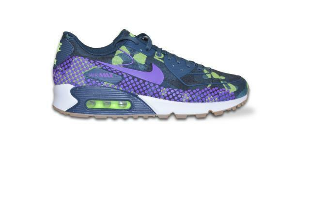 Womens Nike Air Max 90 JCRD Premium - 8072983 00 - Purple Green Camo Trainers