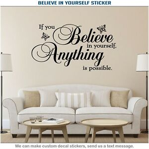 If You Believe In Yourself Vinyl Wall Decor Art Living Room Sticker Decal 016 Ebay