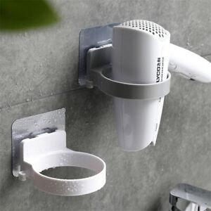 Wall-mounted-Hair-Dryer-Holder-ABS-Bathroom-Shelf-Storage-Hairdryer-Holder-Rack