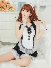 France Maid Uniform Costume, Sexy Waitress Outfit, Party Dress UK Size: 10-14