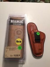Bianchi Tan leather holster size 12 for S&W H&K P7 Glock 17,22,36 Sig Sauer LH