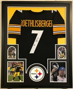 newest ed913 34014 Details about FRAMED PITTSBURGH STEELERS BEN ROETHLISBERGER AUTOGRAPHED  SIGNED JERSEY JSA COA