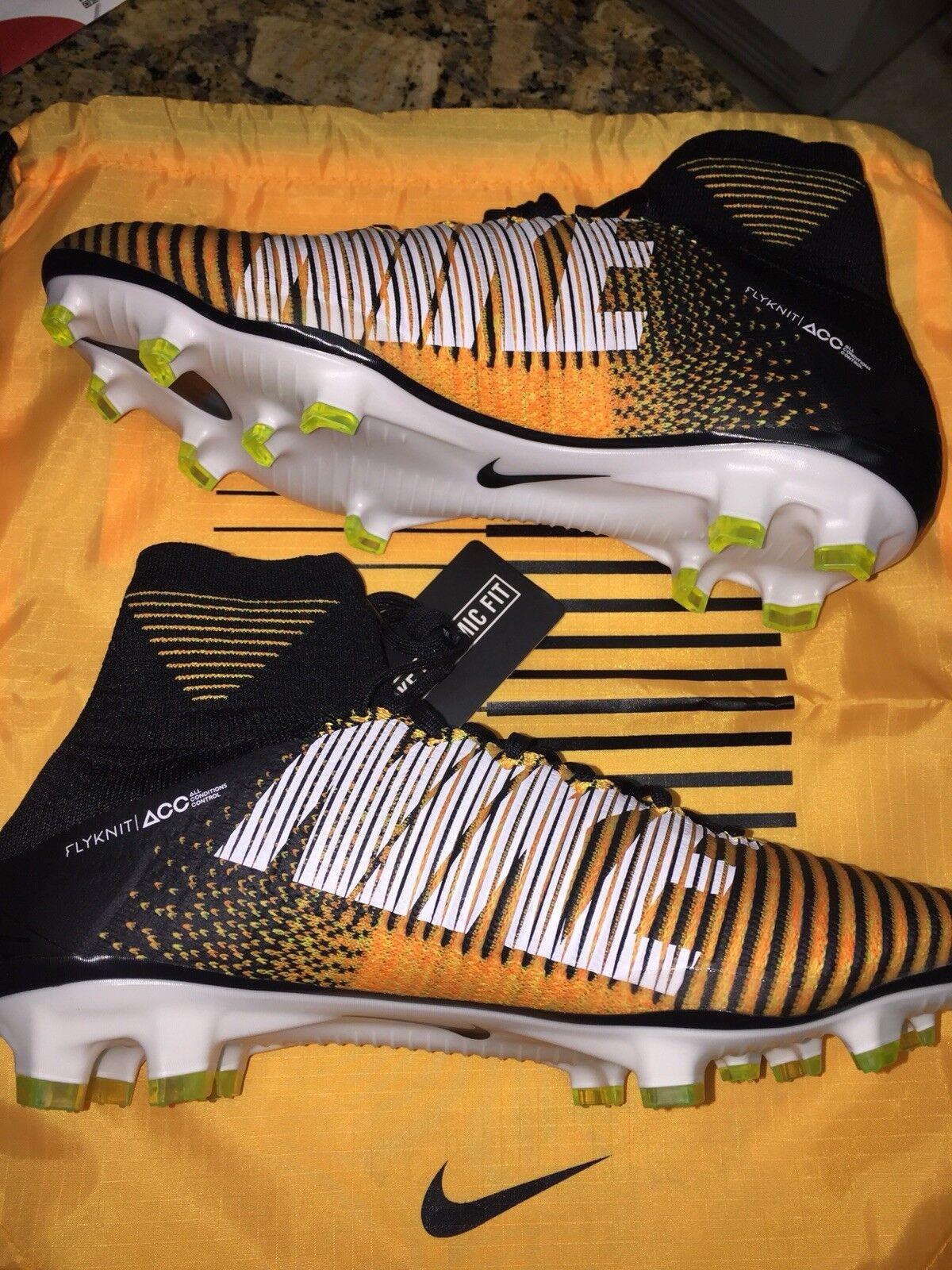 Nike volubile superfly / df - fg, fg, fg, arancione e nero 8 nuovi w / fuori cassa 300 dollari. 3127f2