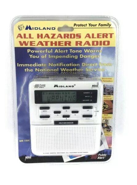 2019 Mode Midland Wr-100c Weather Noaa Radio All Hazards Alert Same Tech New Sealed Nib
