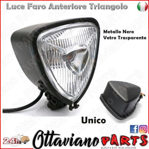 Faro Moto CAFE RACE Triangolo Nero Trasparente per Moto CHOPPER VINTAGE M14