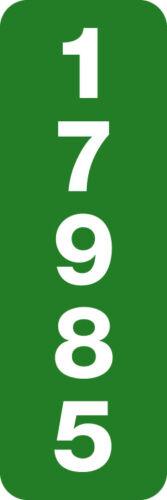 "Custom Reflective 911 Address Sign 6/"" x 18/"" Horizonal or Vertical  Mailbox//Post"