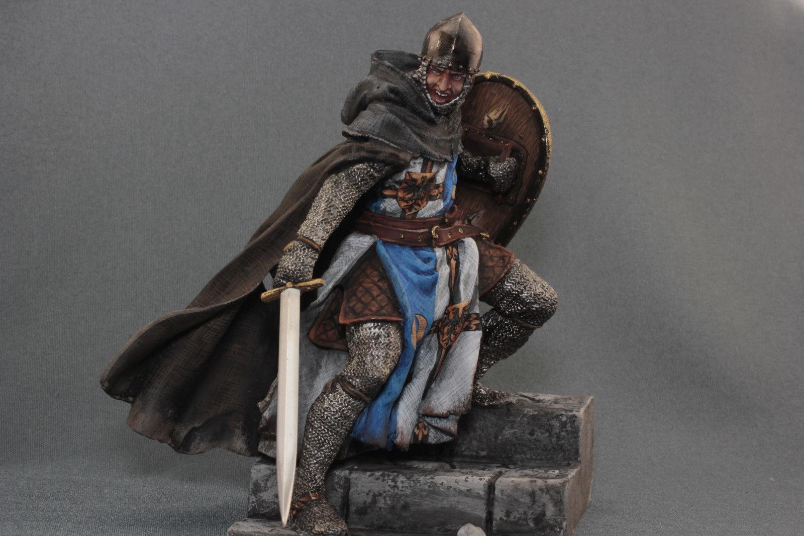 Tin leksakssoldater ELITE målade 90mm Tempelriddare Knight XII c.