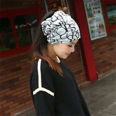 2015 New Fashion Women Knit Ski Crochet Slouch Scarf Hat Cap Beanie Oversized
