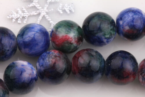6//8//10mm Lot Colorful Gem Round Loose Spacer Bead Stone DIY Jewelry Making Craft