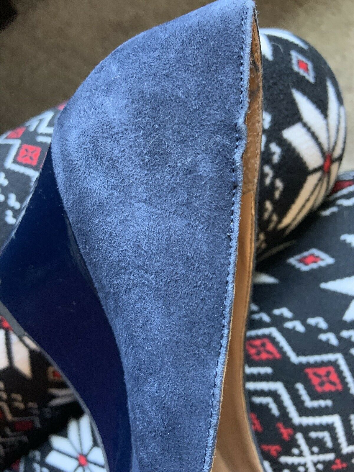 Tommy Hilfiger Twreda Faux Suede Blue Wedges with… - image 10