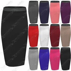 WOMENS-BODYCON-STRETCH-WAIST-PENCIL-SKIRTS-LADIES-SKIRT-LONG-OFFICE-WORK-SEXY