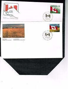 CANADA-1989-90-QUICK-STICK-self-ad-Two-FDC-MNH-1191-2-BOX-510