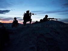 Guerra Ejercito Soldado Pistola Rifle Marino Silueta Nido Art Print bb3411a