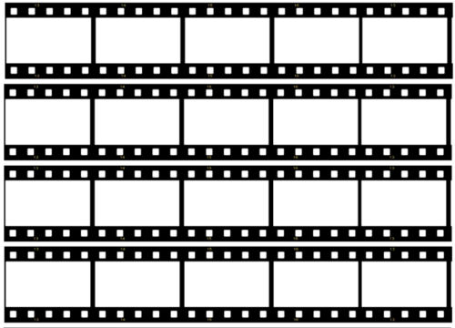 4 x Blank Film Reel Edible ICING Sheet