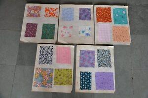 Vintage-5PC-A-B-L-Textil-Telas-Catalogo-Japon