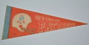 Nice Vintage 1970s New England Patriots Football NFL Mini Pennant Flag Rare 4X9""