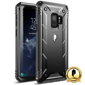 Poetic-Galaxy-S9-Rugged-Case-Revolution-w-Built-in-Screen-Protector-Black