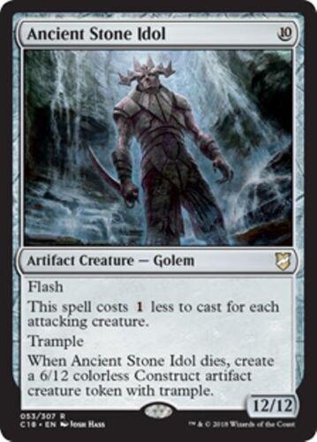 ANCIENT STONE IDOL Commander 2018 MTG Artifact Creature — Golem Rare