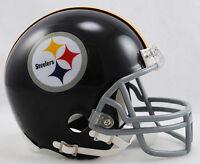 Pittsburgh Steelers Throwback 1963-1976 Riddell Football Mini Helmet In Box