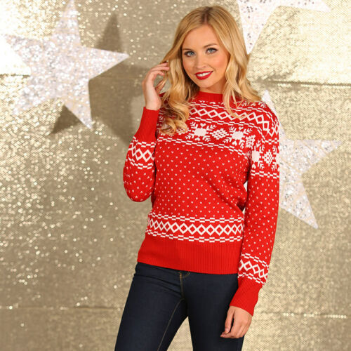 Adult Novelty Xmas Jumpers Merry Christmas Knitted Mens Womens Jumper Sweater
