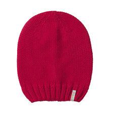 (D) Grobstrick Mütze FREAKY HEADS Beanie Wintermütze Unifarben mit Logo Aufnäher