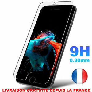 Vitre protection VERRE TREMPÉ film écran iPhone 11 Pro/12/Mini/MAX/X/XR 8/7/6/SE