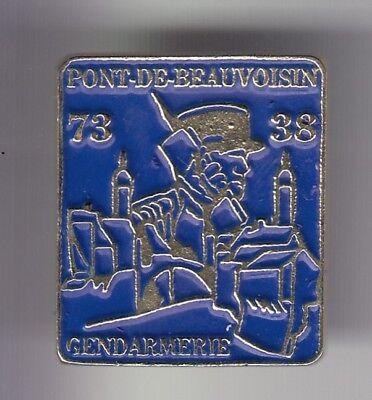 Politie En Leger Gendarmerie Nationale Bleu Brigade Pont Beauvoisin 73 38 ~dy Buena ReputacióN Sobre El Mundo RomáNtico Rare Pins Pin's .