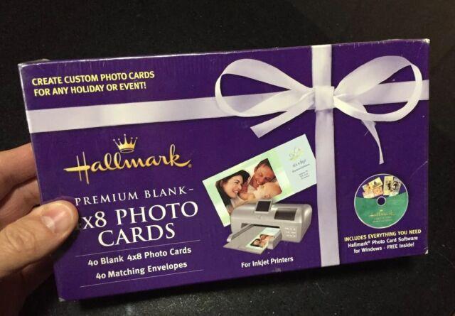 Hallmark Premium Blank 4x8 Photo Cards & Envelopes - 40 New In Box