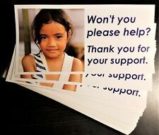 40 Vinyl Stickers Wont You Please Help For Charity Honor Box Vending Route Etc