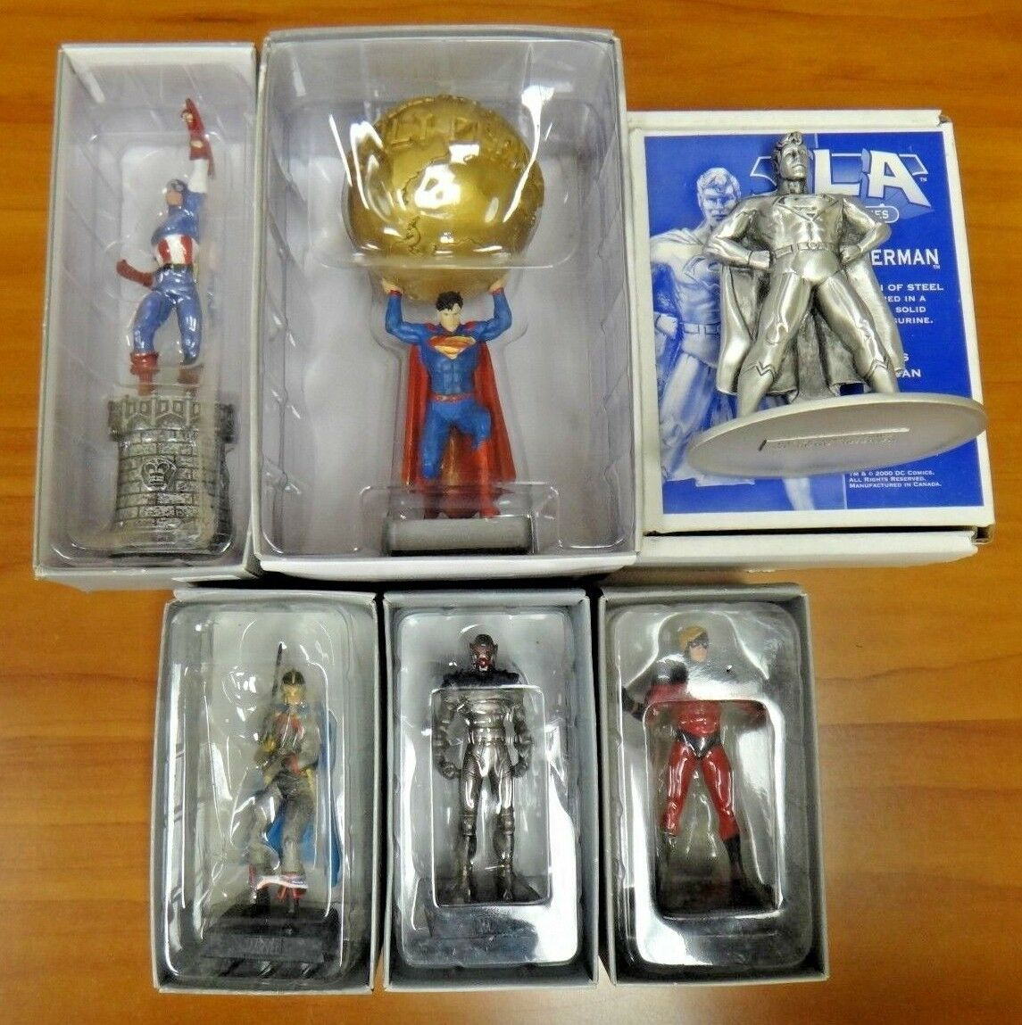 Lot of 6 Superhero Collection Superuomo (2)  Captain America Captain Marvel Ultron  perfezionare