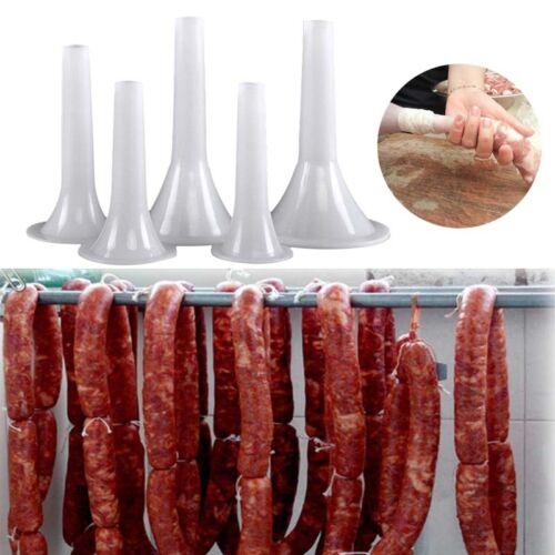 Sausage Making Funnel Stuffer Filler Maker Tube Manual Plastic To Size 5-32 Meat