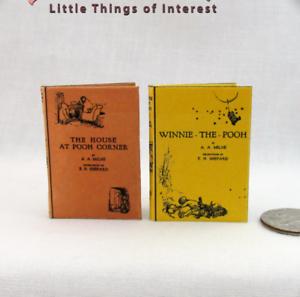 1:6 Échelle Winnie L'ourson Livre Lot De 2 Livres Lisible Illustré Livres