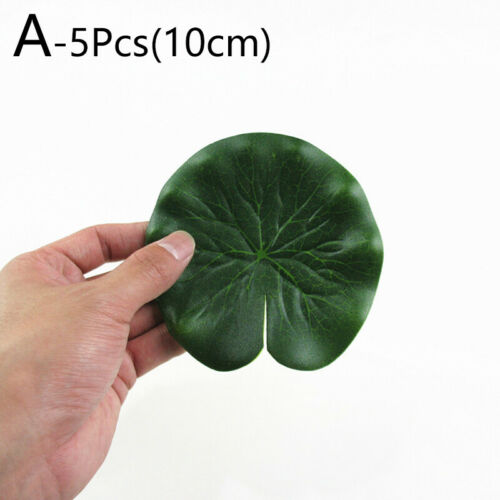 1//2//3//5Pcs Pool Plants Decor Artificial Fake Lotus Leaf Water Lily Floating