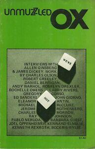 UNMUZZLED-OX-10-1975-ALLEN-GINSBERG-ANDY-WARHOL-CORSO-JOHN-GIORNO-M-MCCLURE