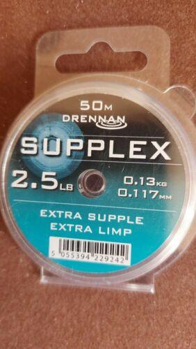 2.5lb// 0.117mm Drennan Supplex Hooklink Rig Line 50m Spool