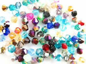 Mixed-Color-100Pcs-Faceted-Glass-Crystal-Loose-Beads-Spacer-Bicone-Finding-6mm