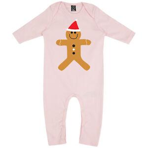 Strampler Baby Weihnachten Lebkuchenmann Süß Festliche Langärmlig Mädchen Strampler Rompasuit Dinge FüR Die Menschen Bequem Machen